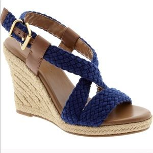 {Banana Republic} Blue Espadrille Wedge